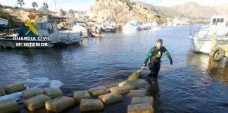 Drugs Ahoy As Massive Hashish Stash Bobs Along In A Bay In Spain S Murcia Region