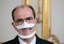 El Primer Ministro Jean Castex Usa Una Mascarilla Transparente En Una Conferencia Para Personas Con Discapacidad