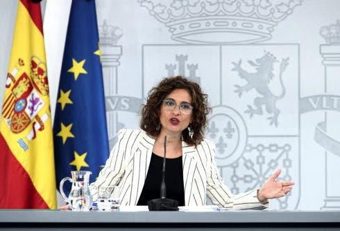 Primer Consejo De Ministros Con Periodistas En La Sala Del Complejo De La Moncloa Desde El Estado De Alarma