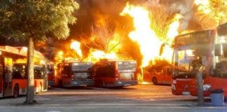 Valencia Burning Buses