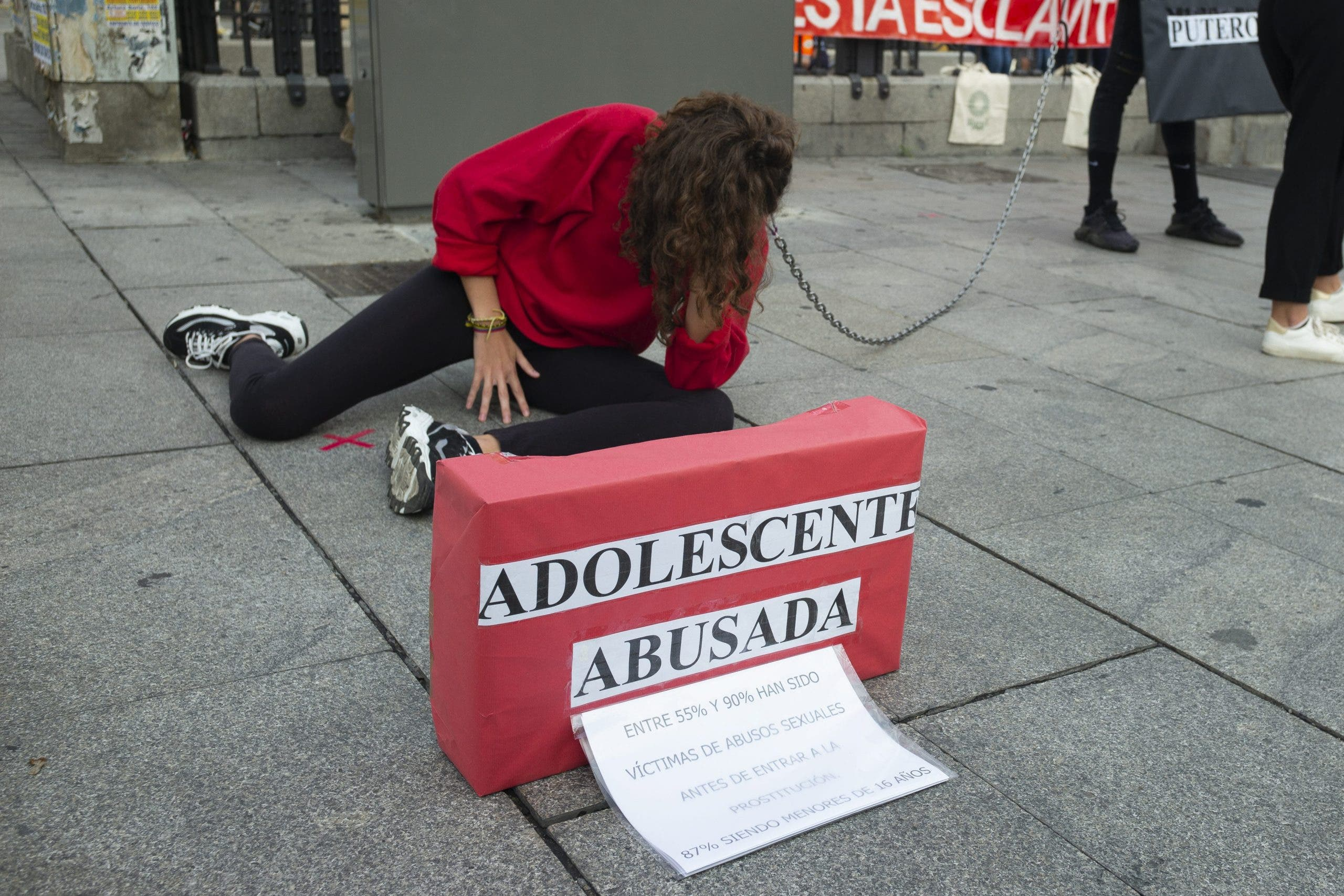 A recent protest calling for the abolition of prostitution