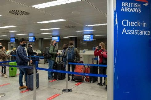 Italy British Airways Check In Passengers Board Last Flight To London That Arrives Empty To Repatriate British Residents