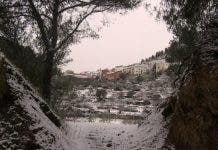 Snow in inland Castellon on Thursday