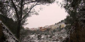 Snow in inland Castellon on Thursday