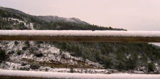 Snow in Cirat (Castellon)