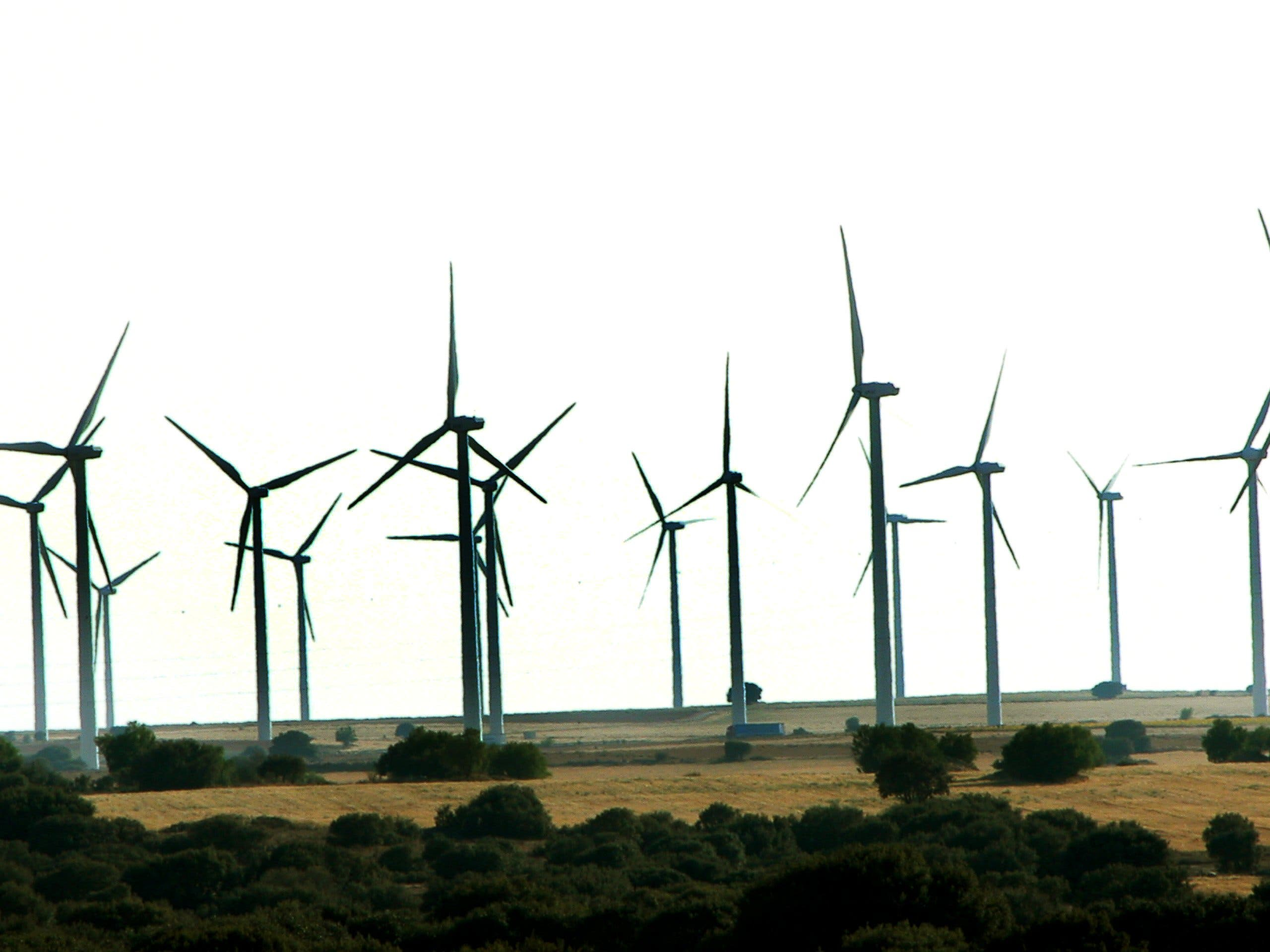 A wind farm in Spain