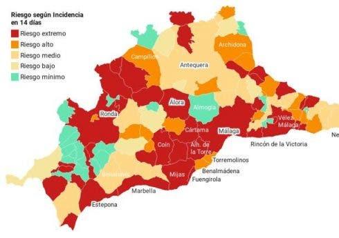 Malaga Hot Zones