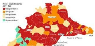 Malaga Red Zone Map