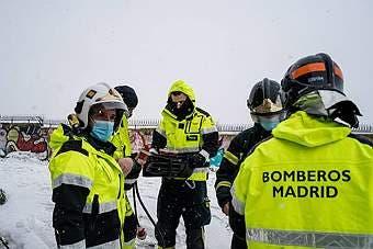 Heavy Snowfall In Madrid Spain 07 Jan 2021