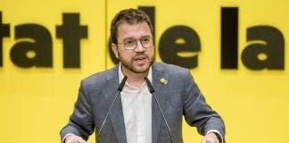 Acting Catalan president Pere Aragones (ERC)