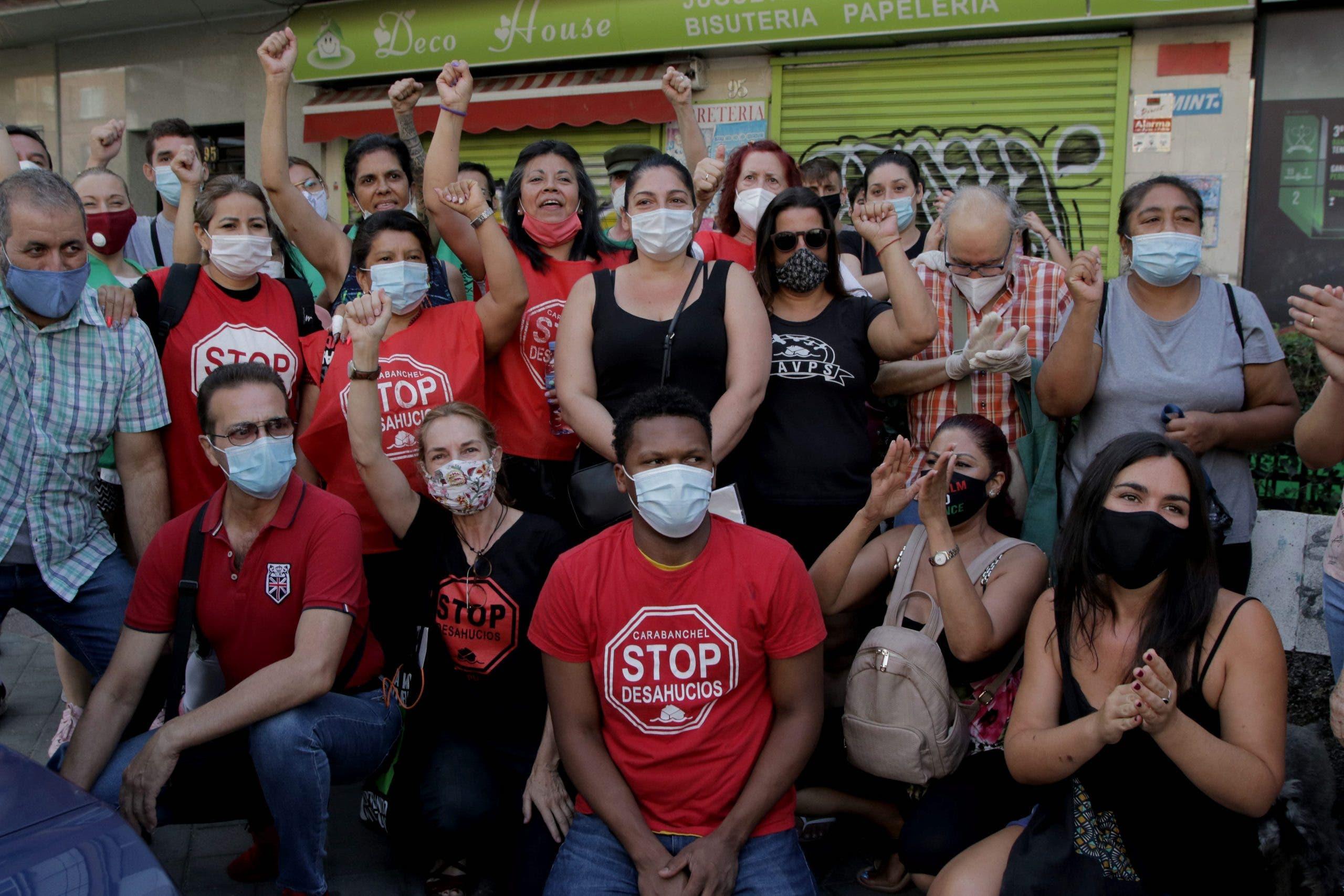 A recent protest by the Stop Desahucios anti-eviction platform