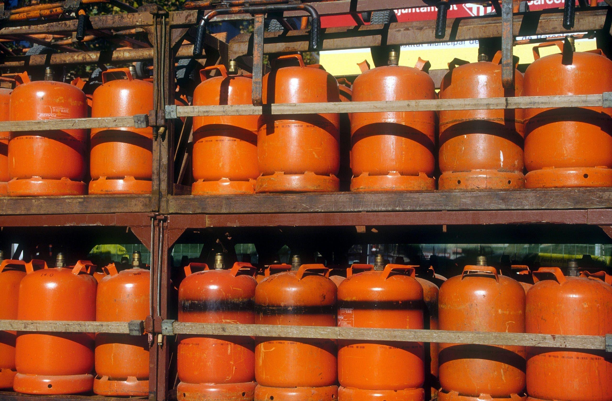 The burglars targeted gas bottles at petrol stations