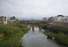 The river Serpis passing through Gandia