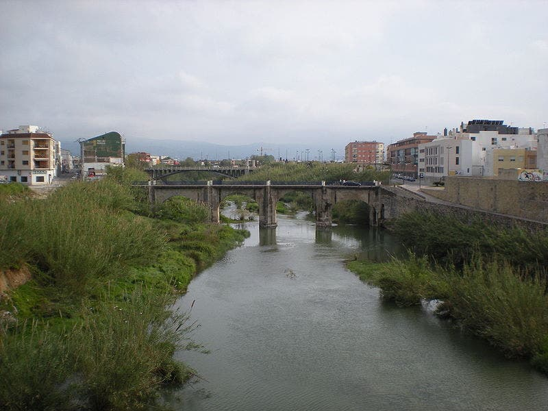 The river Serpis passing through Gandia