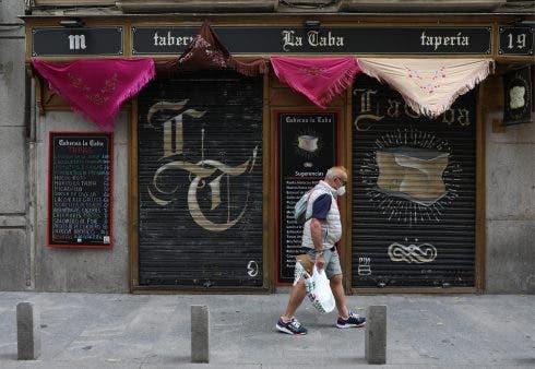 Coronavirus Madrid restaurant