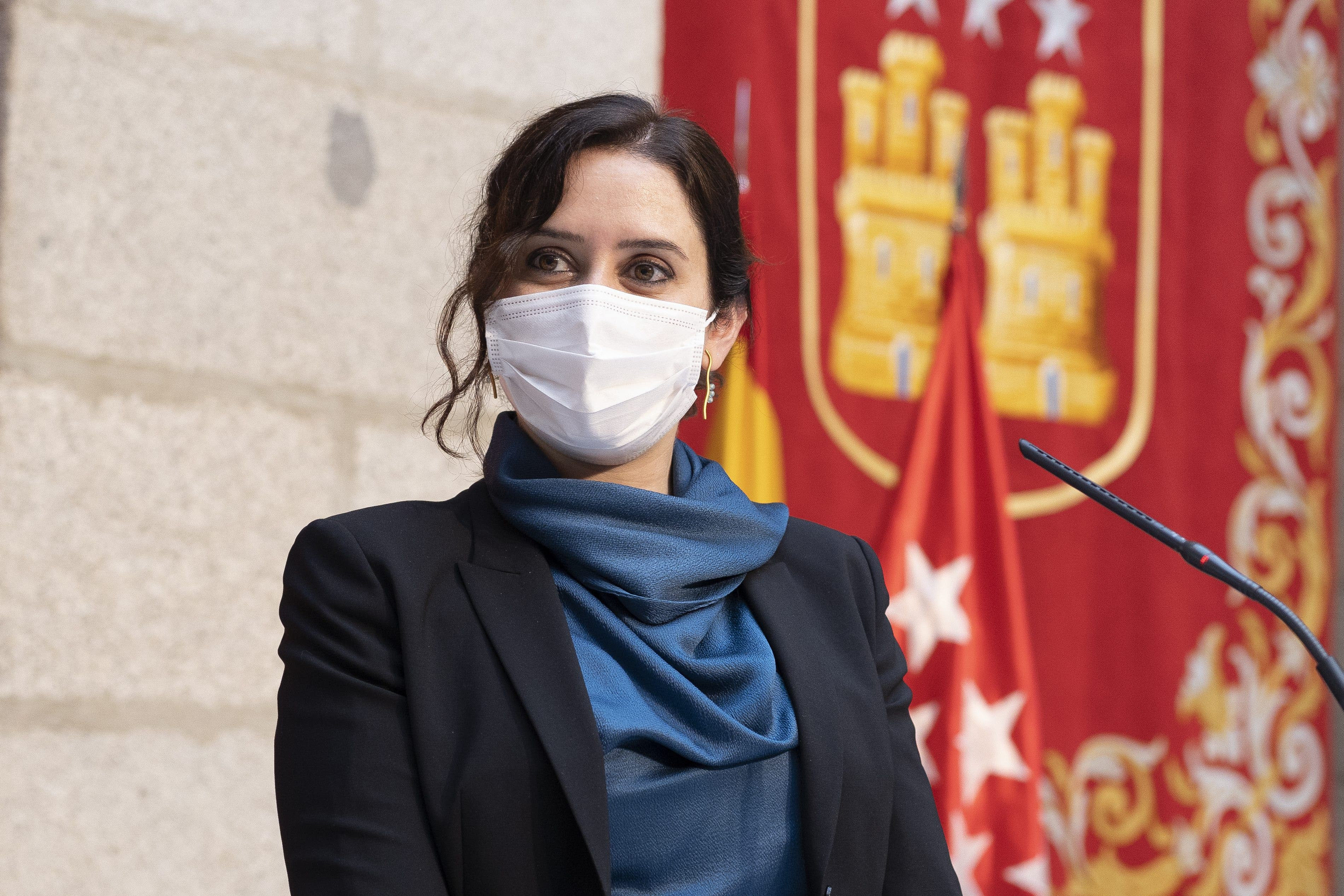 Isabel Diaz Ayuso Press Conference In Madrid