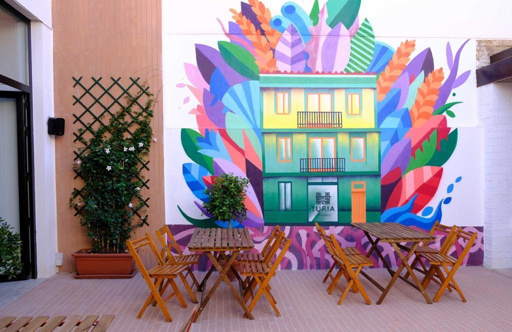 The patio at Casa Cabanyal