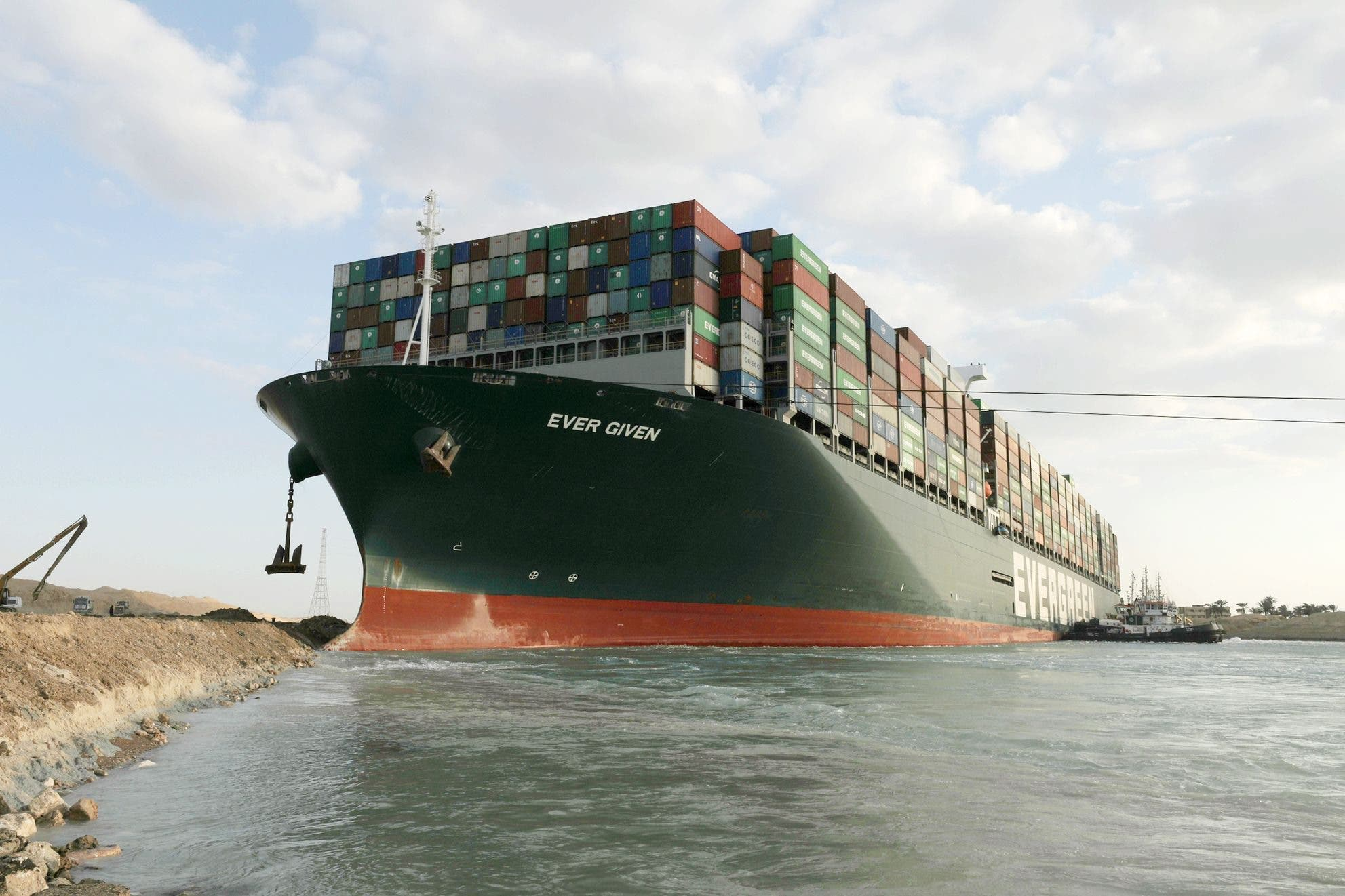 Egypt Suez Canal Stuck Container Ship Refloating