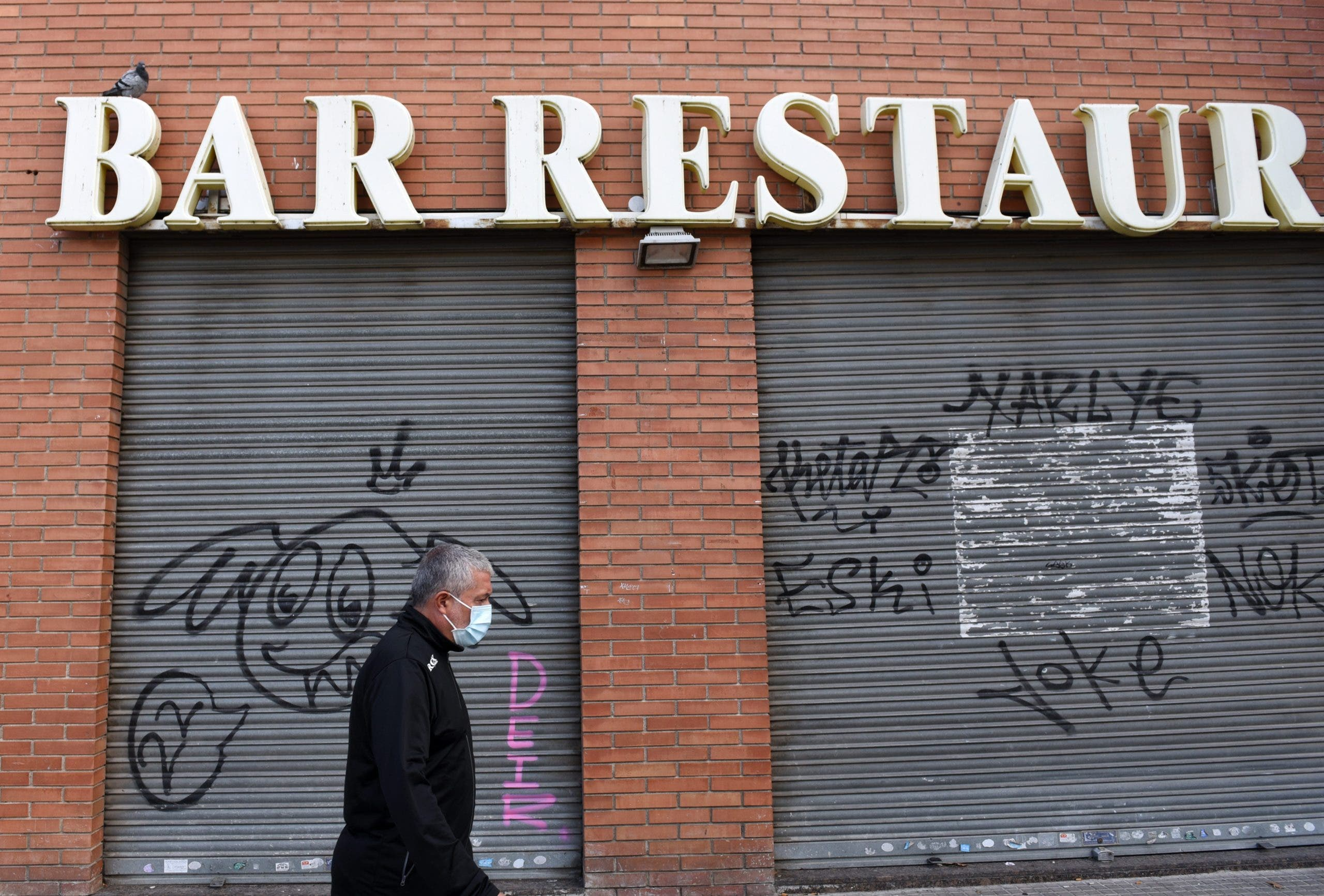 Bars And Restaurants Close Due To Covid 19 Crisis In Barcelona, Spain