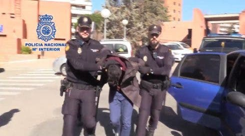 photo of arrest of Alberto Sánchez Gómez issued by police in Madrid