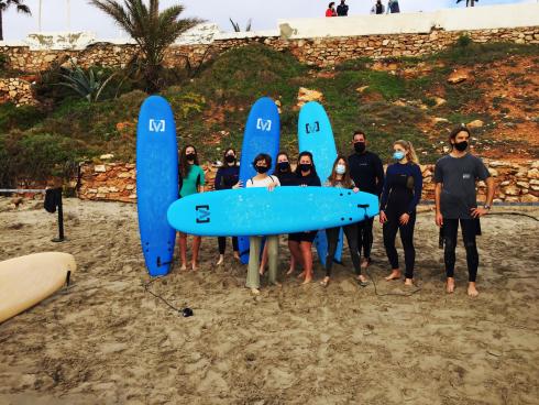 Surfing La Zenia