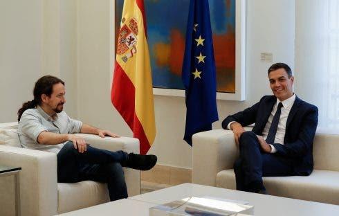 Pedro Sanchez Pablo Iglesias Meeting In Madrid