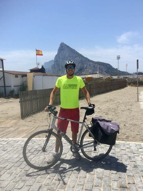 By The Finish Line At The Gibraltar Border