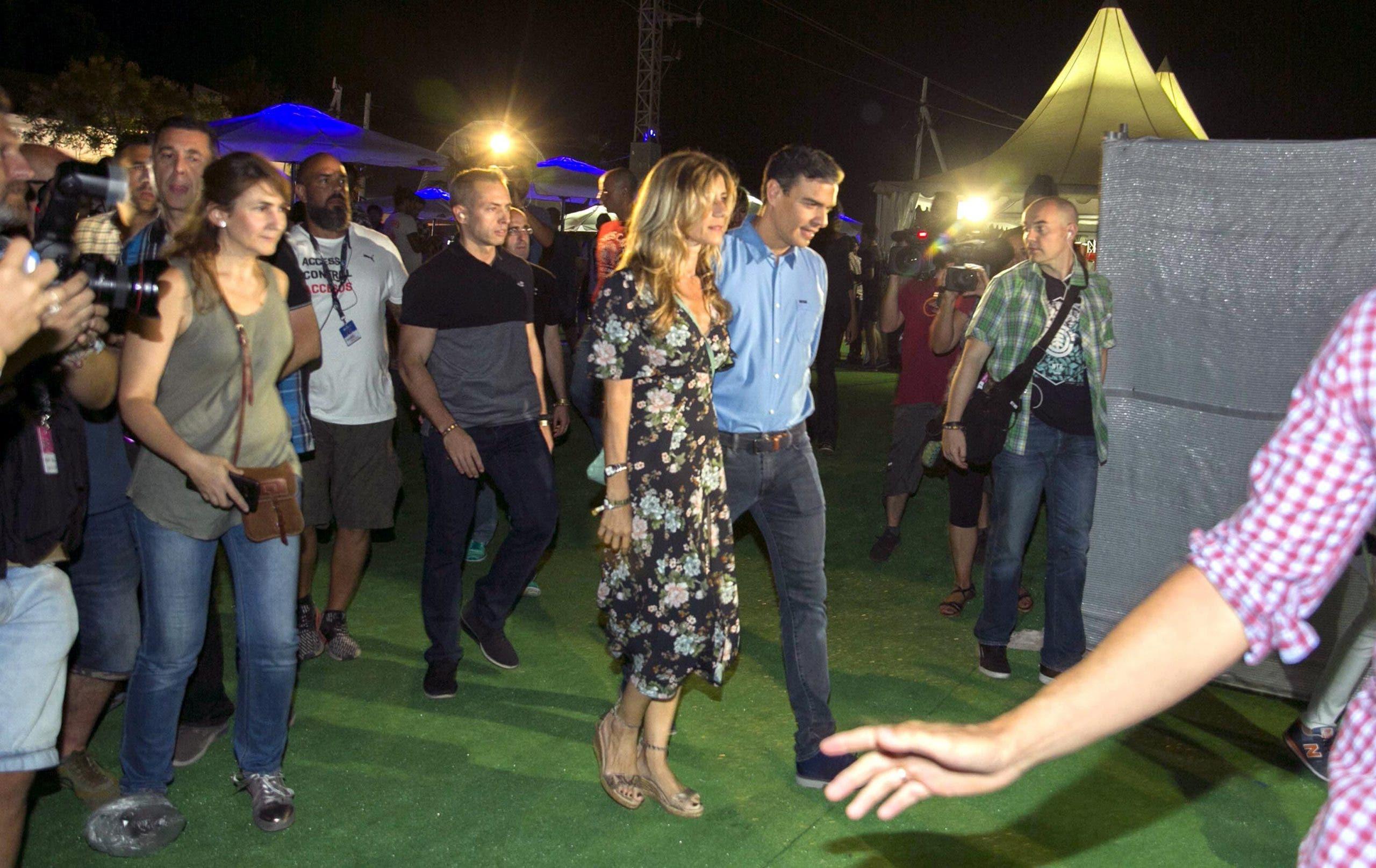 Pedro Sanchez Con Su Mujer Begoña En El Fib
