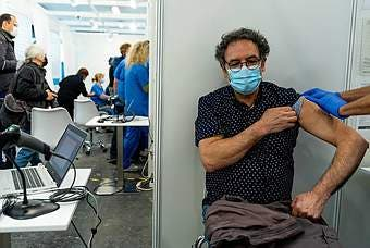 Spain: Beginning Of Mass Vaccination Campaign In Fira De Barcelona Space