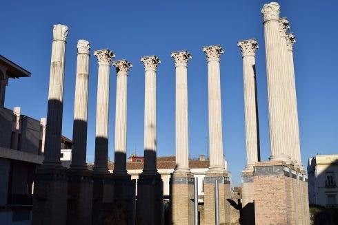 Roman Columns In Centre