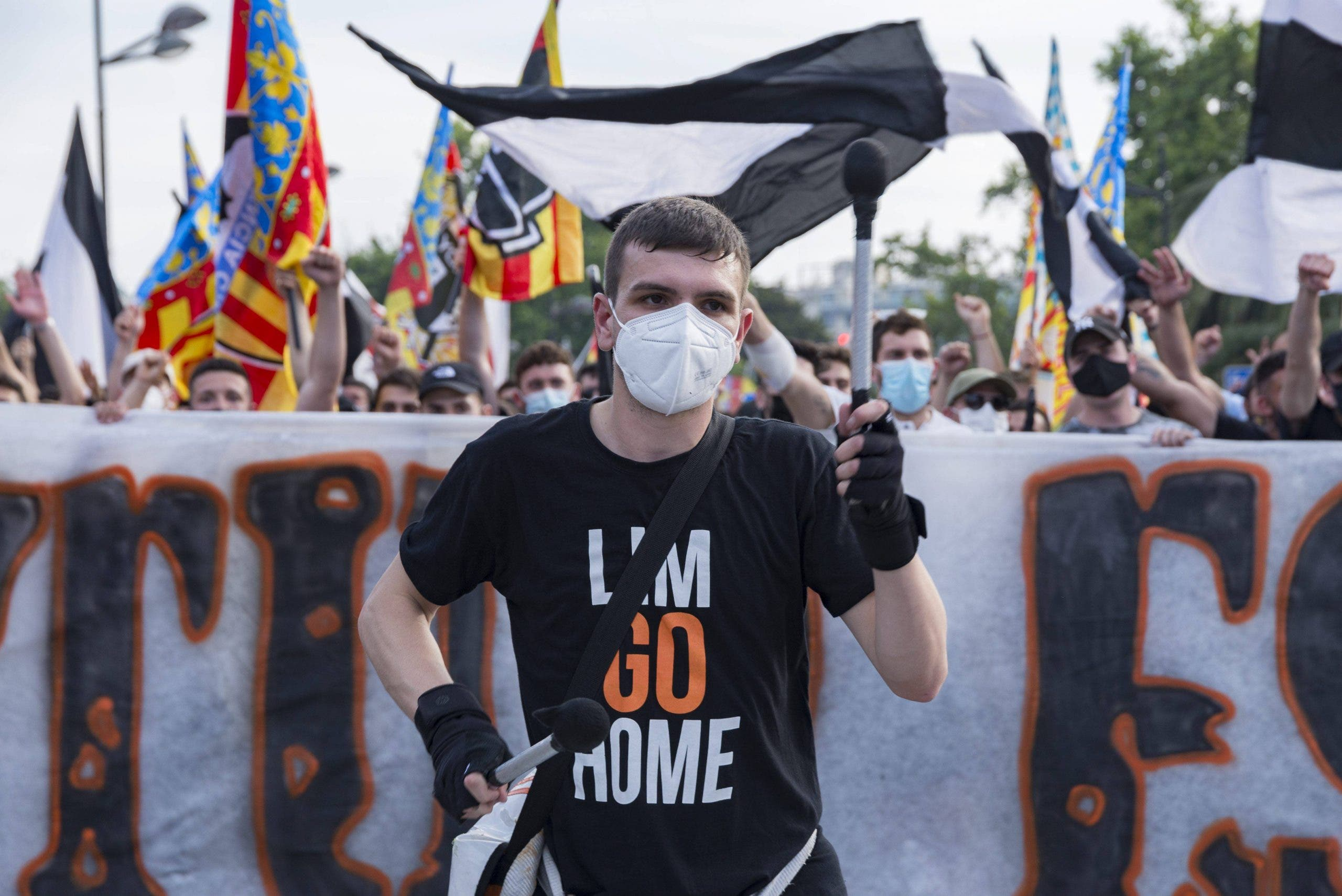 Protest Against The Management Of President Peter Lim In Valencia, Spain 08 May 2021