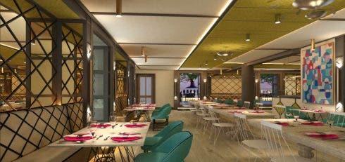 Gran Via Madrid Restaurant Render