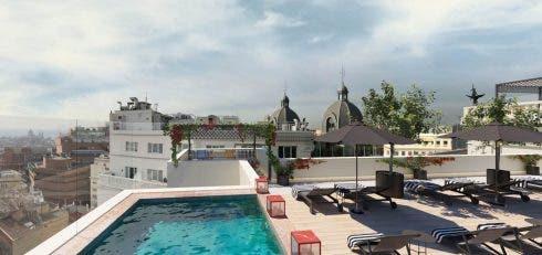 Gran Via Madrid Rooftop Render