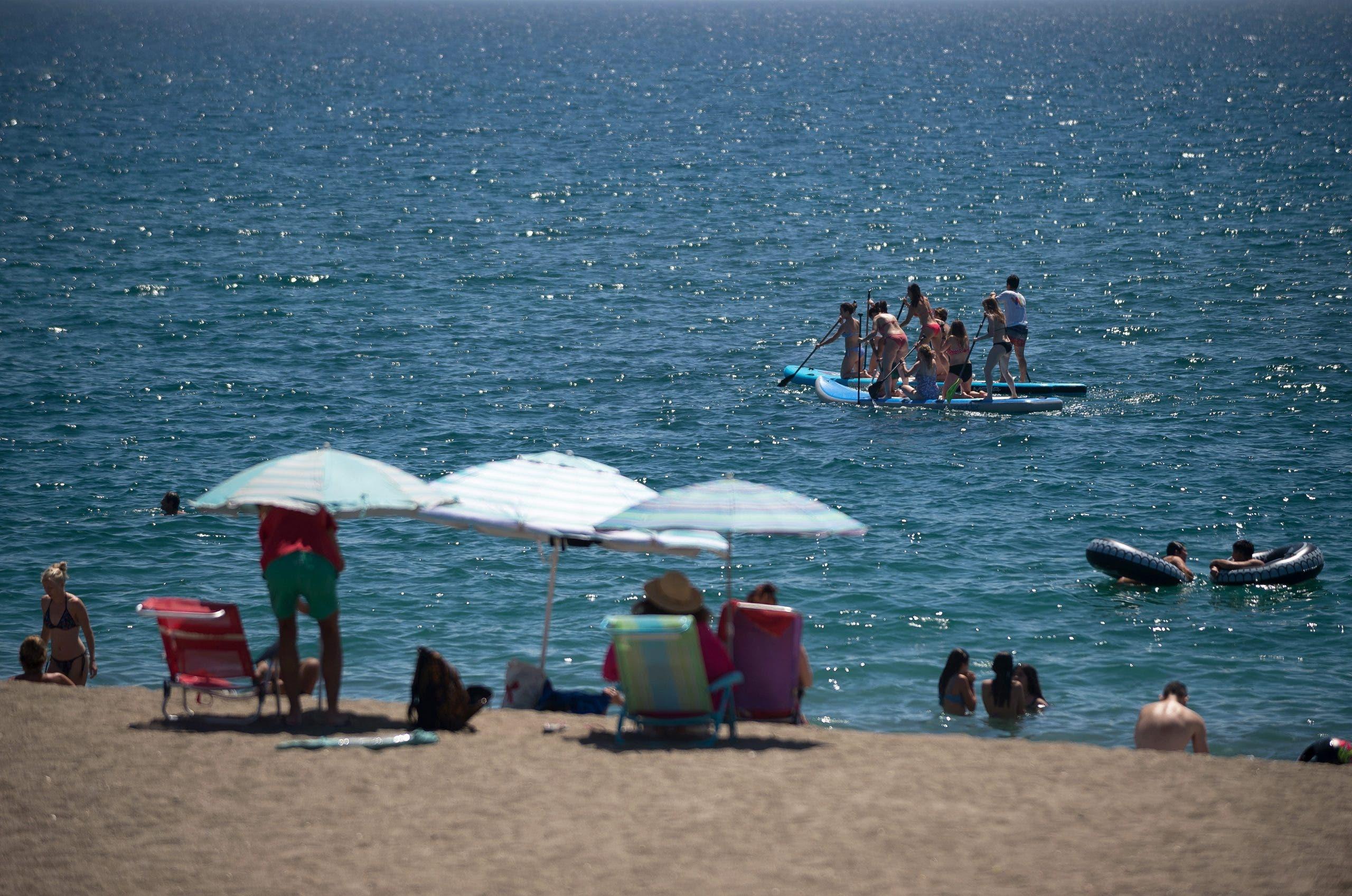 Castellon beach pollution