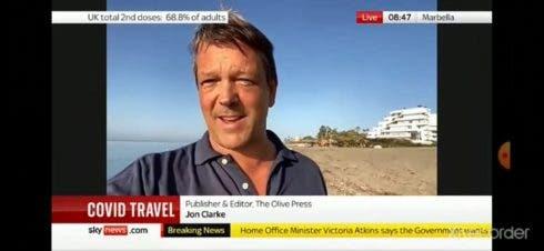 Editor Jon Clarke on sky news