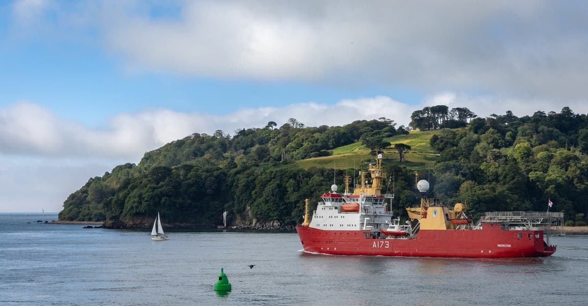 Hms Protector Sails For ?new Adventures? In Antarctica