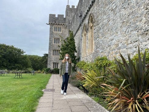 Pincess Of Asturias Leonor De Borbon During Her First Day At Uwc Atlantic College In Llantwit Major, Wales 30 August 2021