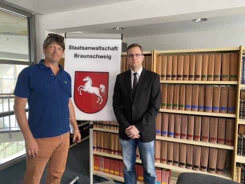 Jon Clarke With German Prosecutor Wolters.