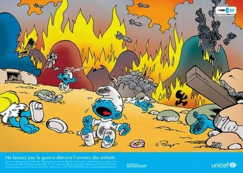 Smurf On Fire