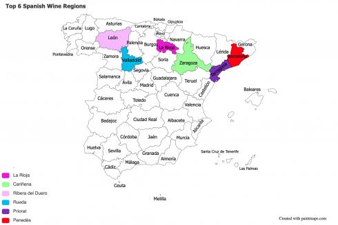 Top 6 Spanish Wine Regions 2