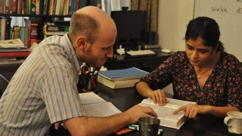 Zabaan Language Institute Neha Tiwari Teaching David Advanced Hindi 2