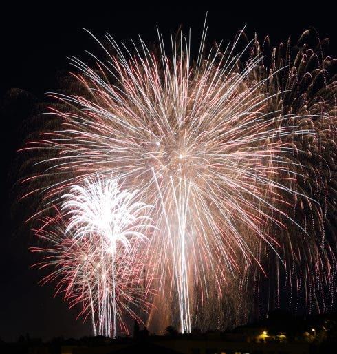 """Fireworks In """"la Merce"""" Festival, In Barcelona"""