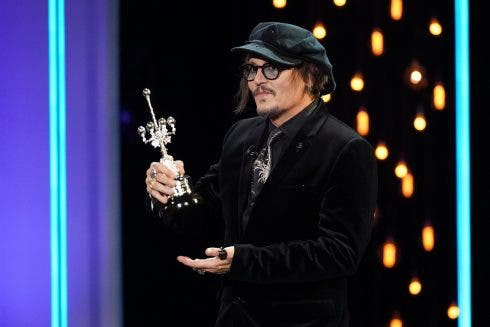Johnny Depp Winner Donosti Award At The 69th Edition Of The San Sebastian Film Festival, September 22, 2021