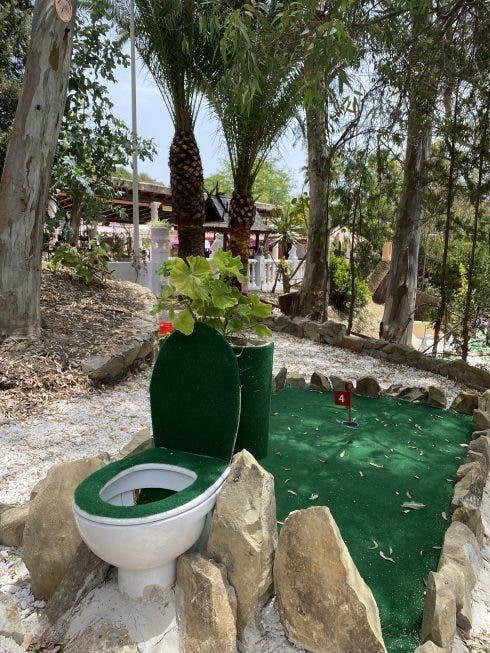 Roman Oasis Toilet