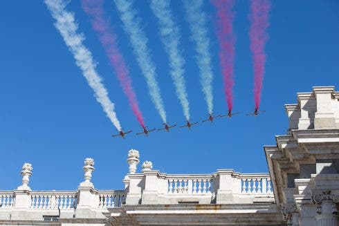 Spanish Royals Attend National Day Celebration