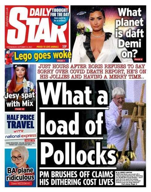 Dail Star Front Page